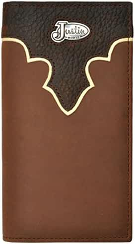 Justin Men's Leather Overlay And Concho Rodeo Wallet