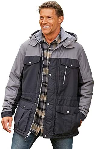 Boulder Creek by means of KingSize Men's Big & Tall Colorblock Expedition Parka Coat