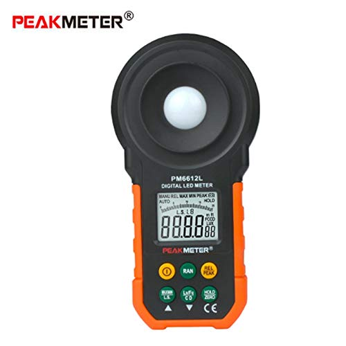 CHUN-Accessory - PM6612L Illuminometer LED Digital Analog Bar Light Lux Meter 20-200000 lux Handheld Light Meter for Light Measuring
