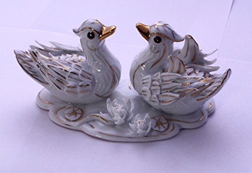 Feng Shui Mandarin Ducks-hand Crafted and Decorated Porcelain,figurine D06009.