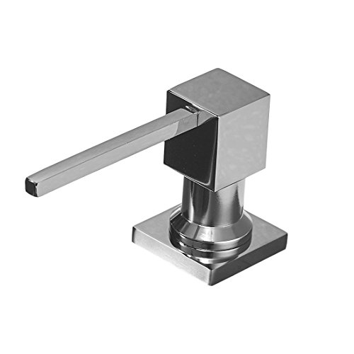 - WANFAN Brass Chrome Kitchen Countertop Soap Dispenser Pump, Built In Sink Soap Dispenser With 14 OZ ABS Plastic Bottle Deck Mount 2306L