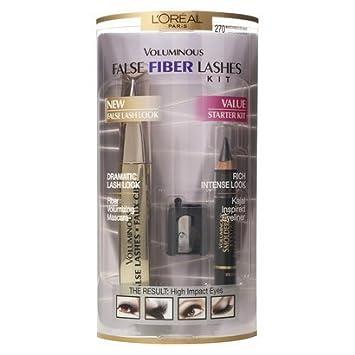 0f525db6a0a Image Unavailable. Image not available for. Color: L'Oreal Paris Voluminous  False Fiber Lashes Starter Kit ...