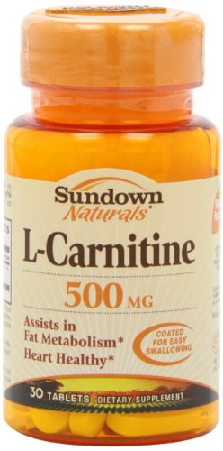 Sundown Naturals L-Carnitine, 500 mg, 30 Tablets (Pack of 2) by Sundown Naturals