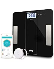 SENSSUN Bluetooth Body Fat Scale Wireless Bathroom Weight Scale Body Composition Analyzer with Smartphone App for Body Weight, Fat, Water, BMI, BMR, Muscle Mass,396 lbs