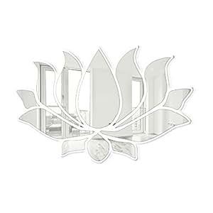 Seeyou premium crystal flor de loto sin marco pared espejos decorativos hogar y - Espejos decorativos amazon ...