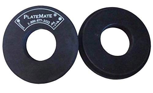 PlateMate 2-Pcs Magnetic Donut 1.25-Lb Workout Microload Weight Plate Add-Ons by Plate Mate