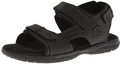 Rockport Men's River Heights 3 Sandal-Black-6.5 W