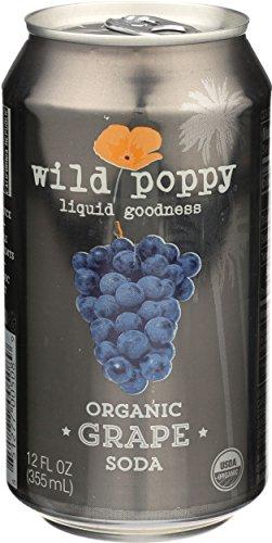 Wild Poppy - Wild Poppy Organic Grape Soda 12 oz Cans - Pack of 4