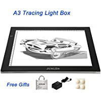 JUNLON A3 Light Box LED Tracing Light Pad Light Table Tracing Board for Drawing Light Tracer Artists Stencil Artcraft Tracing Animation Extremely Bright Adjustable Brightness Tattoo