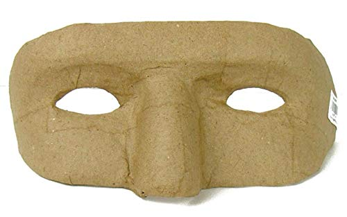 Craft Pedlars PA Paper Mache Eye Mask with Holes for Eyes