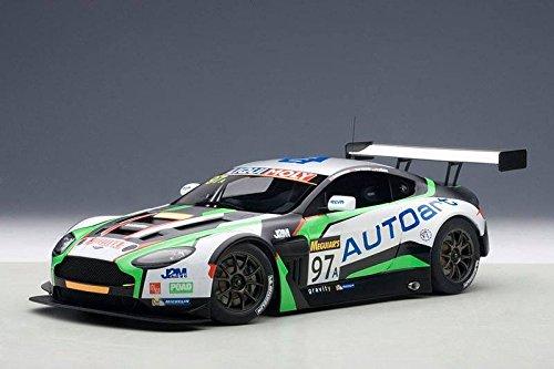 AUTOart Aston Martin Vantage V12GT32015-12H Bathurst-Echelle 1: 18 81506--Black/White/Green