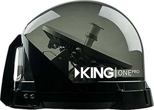 KING KOP4800 One Pro Beige Western Arc Premium Satellite TV Antenna – Works with Dish, DIRECTV, or Bell (Canada)