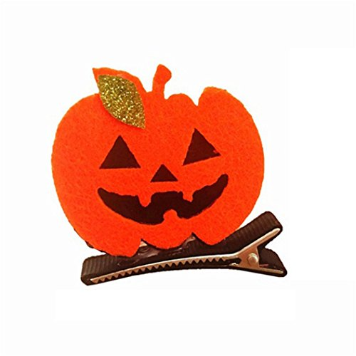 856store Clearance Sale Pumpkin Ghost Witch Hat Bat Hair Clip for Halloween Dress up Party Accessory