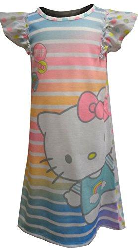 - Hello Kitty Girls' Toddler Happy Sleeveless Nightgown, White, 2T