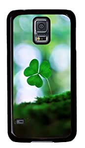 Single clover pattern Samsung Galaxy S5 Case Cover
