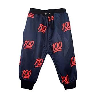Hipster Harajuku Funny Shorts Pants Harem Men Women 3d Trousers (S)