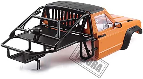 INJORA RC Carrosserie Corps Coquille Cherokee Car Body Shell RC Front Cab avec Cage pour 1/10 RC Crawler Traxxas TRX4 Axial SCX10 90046 Redcat GEN 8 Scout II