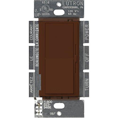 Lutron DVSCLV-600P-SI Diva 450-watt Single Pole Magnetic Low-Voltage Dimmer, Sienna