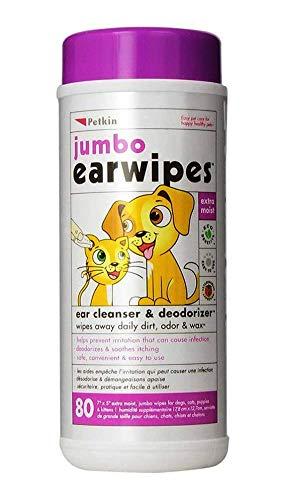 Petkin Toallitas Jumbo oído para perros y gatos: Amazon.es: Productos para mascotas