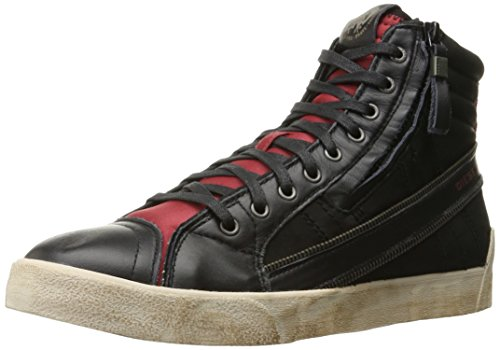Diesel Mens D-velows D-string Plus Sneaker Medio Alta, Ghiaccio Bianco, 38 1/2 Eu M Us Men Black