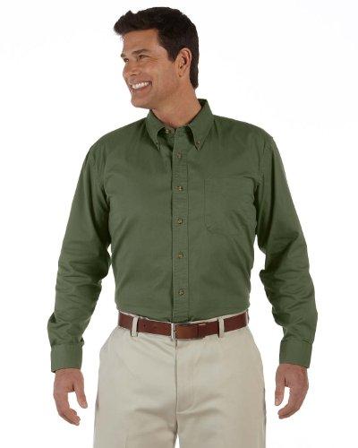 Devon & Jones Men's Long-Sleeve Titan Twill - NEW OLIVE - XL