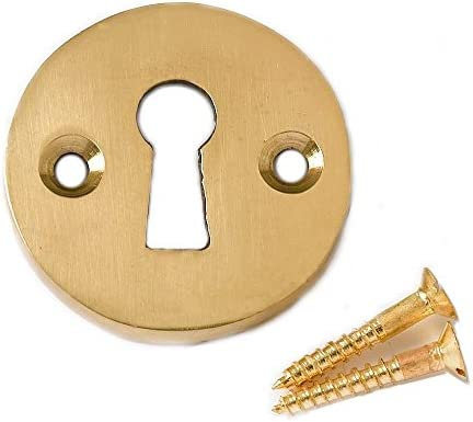 Victorian Open Escutcheon Set Brass