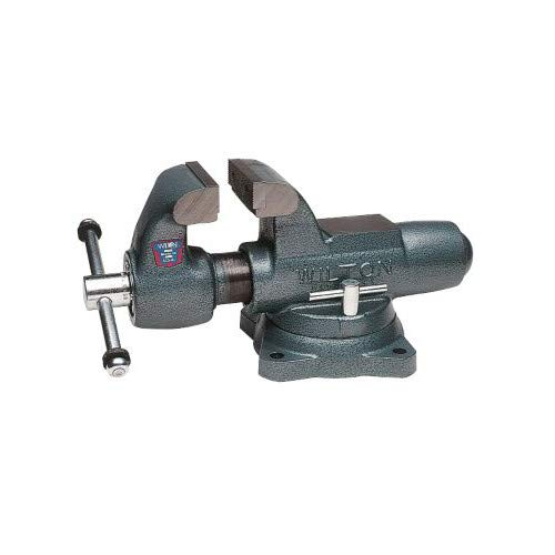 Wilton 111 Machinists' Bench Vises with Swivel Base, 3-1/2 Jaw Width, 5-1/4