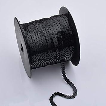 Tanzbekleidungen Demarkt Paillettenband Farbiges Pailletten Band 6 mm Breites Bortenband 90 Meter Langes 1 Volumen Gold Gl/änzende Paillettenb/änder f/ür Bastelprojekte