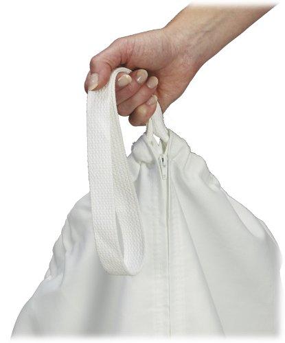 Household Essentials 148 Hanging Cotton Canvas Laundry Hamper Bag | White by Household Essentials (Image #2)