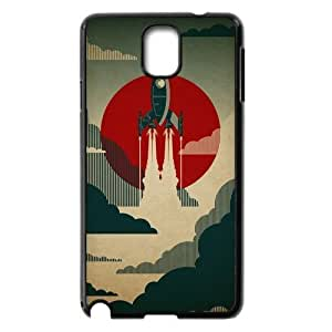 Generic Red, Black, and White Rocket Art Hard Snap-on Covers for Samsung Galaxy Note 3 wangjiang maoyi