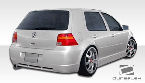 (Duraflex ED-PLH-001 R32 Rear Bumper Cover - 1 Piece Body Kit - Compatible For Volkswagen Golf 1999-2005)