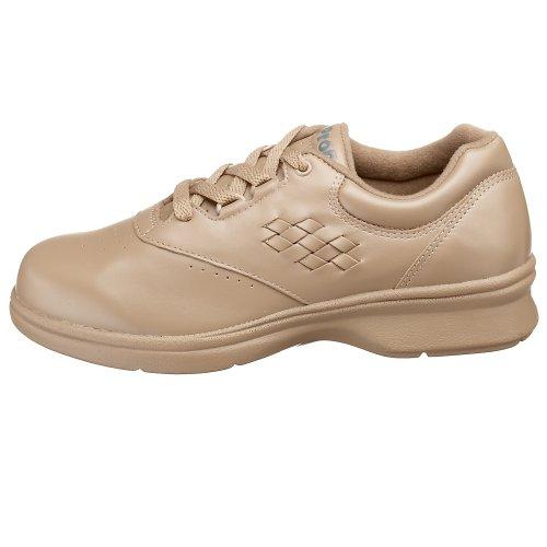 Caminar Cordon Mujeres Smooth Vista Zapatos Piel Bajos amp; Medios Talla Propét Taupe Para Walker vFaqdY