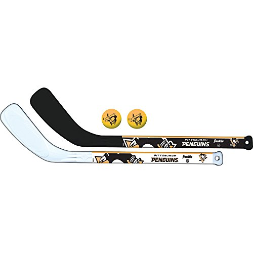 Franklin Sports NHL Pittsburgh Penguins Mini Hockey 2 Piece Player Stick Set