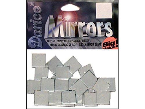 alue Square .5 25pc (Darice Big Value Mirrors)