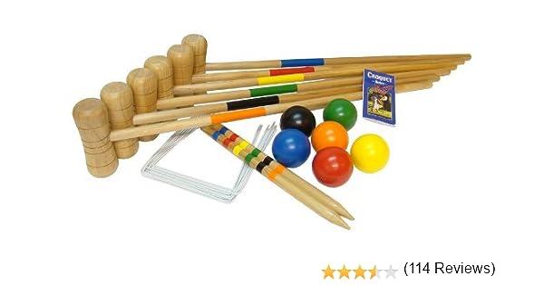 Bex Sport - Croquet Wooden - Juego de Croquet de madera 6 mallet ...