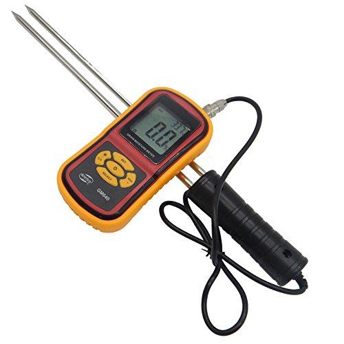 YD-640 Portable Digital Grain Moisture Meter with Measuring Probe LCD Display Tester for Corn Wheat Rice Bean Wheat Hygrometer