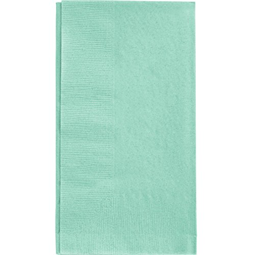 Green Folded Dinner Napkins - 5