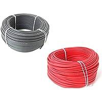 Solaire de KBE électrotechnique. Kit câble 10m Rouge + 10m Noir. 4mm² section du câble. Fabriqué en Allemagne.