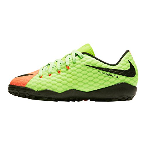 Nike Jr Hypervenomx Phelon Iii Tf - electric green/black-hyper ora Mehrfarbig