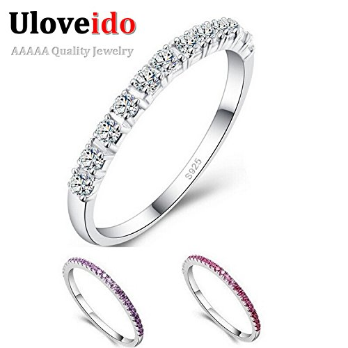 Myn Jewelry Wedding Ring Topaze Mystique Girls Purple Red Simulated Ring Cool Jewelry Anel J029