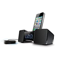 iLuv IMM155BLK Vibro II Alarm Clock 30-Pin Speaker Dock with Bed Shaker (Black) - old Model