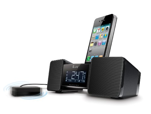 iLuv IMM155BLK Vibro II Alarm Clock 30-Pin Speaker Dock with Bed Shaker (Black) - old (Jwin Model)