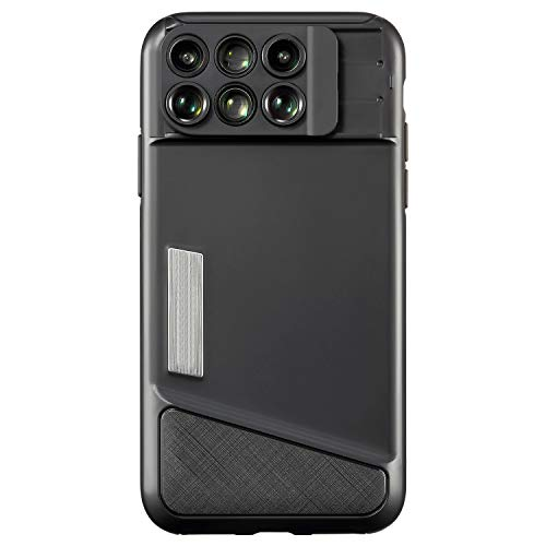 iPhone x Lens Case, iPhone X Camera Lens, 6 in 1 Dual Optics Lens, 120° Super Wide Angle Lens,10X/20X Zoom Macro Lens, 180°Fisheye Lens, 2X Telephoto Lens with Case For Apple iPhone X, iPhone 10X