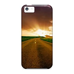 Fashionable Style Cases Covers Skin For Iphone 5c- Highway To Horizon