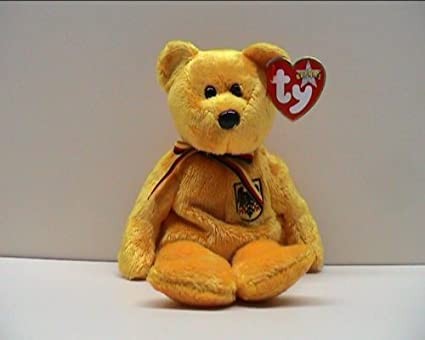 ff5de4bfbb4 Image Unavailable. Image not available for. Color  TY Beanie Baby - PRINZ  VON GOLD the Bear (Germany ...