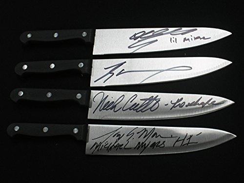 4 Lot Signed Steel Chef Knife Michael Myers Halloween Nick Castle Tyler Mane Tony Moran Daeg Faerch (Tyler Mane Halloween)