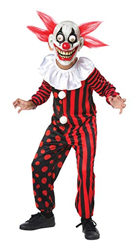 (Boy's Googly Eye Clown Outfit Horror Theme Party Child Halloween Costume, Child L)