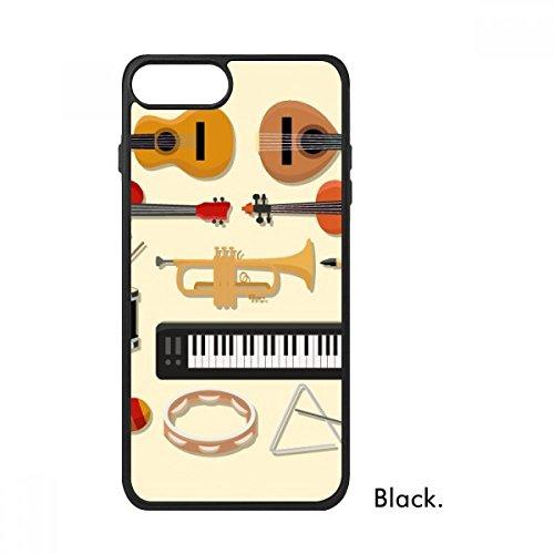 Electric Piano Trombone Guitar Music for iPhone 7 Plus Cases Phonecase Apple Cover Case ()