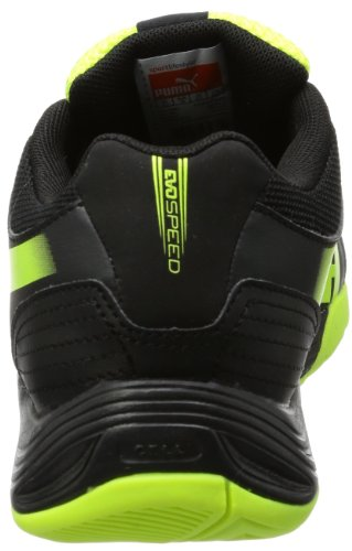 Puma evoSPEED Indoor 5.2 - Zapatillas deportivas para interior de material sintético unisex negro - Schwarz (black-fluo yellow-brilliant blue 01)