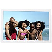 Celendi 15-Inch 1280x800 High Resolution Digital Photo Frame With Auto On/Off Timer, MP3 and Video Player, White